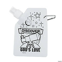 Color Your Own God's Galaxy VBS Collapsible Water Bottles