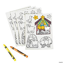 Color Your Own God's Greatest Gift Stickers