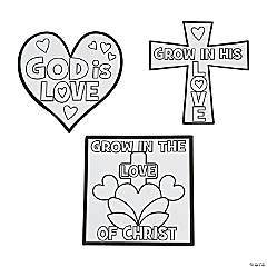 "Color Your Own ""Grow In The Love Of Christ"" Magnets"