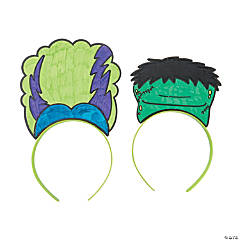 Color Your Own Halloween Monster Headbands