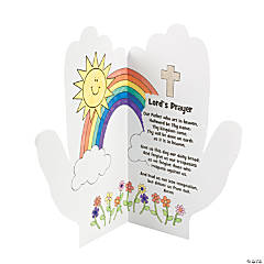 "Color Your Own Handprint ""Lord's Prayer"""