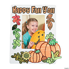 Color Your Own Happy Fall Y'all Picture Frame Magnets