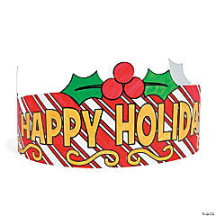 Color Your Own Happy Holidays Crowns