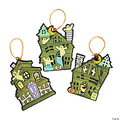 Color Your Own Haunted House Ornaments