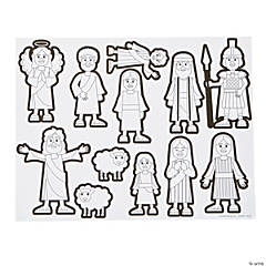 Color Your Own He Lives Sticker Scenes