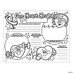 Color Your Own Healthy Heart Posters