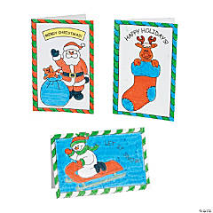 Color Your Own Holiday Cards