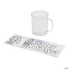 Color Your Own Holiday Mugs