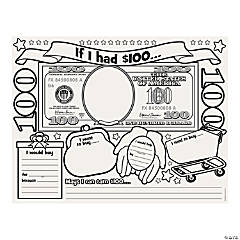 """Color Your Own """"If I Had $100"""" Posters"""