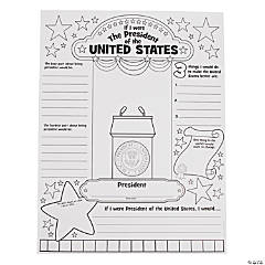 Color Your Own If I Were President Poster