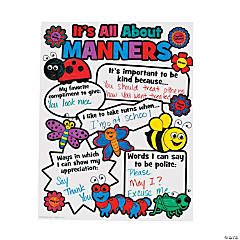 "Color Your Own ""It's All About Manners"" Posters"