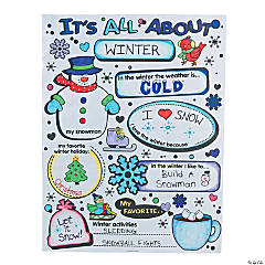 "Color Your Own ""It's All About Winter"" Posters"