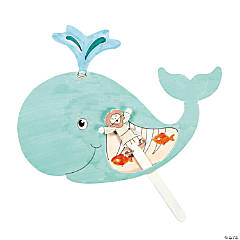 Color Your Own Jonah & the Whale Pop-Up Puppets Craft Kit