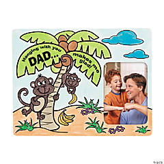 Color Your Own Jungle Father's Day Picture Frame Magnets