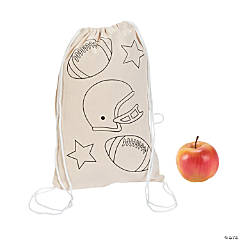 Color Your Own Large Sportball Drawstring Bags