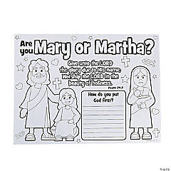 Color Your Own Mary or Martha Posters
