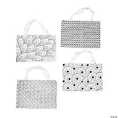Color Your Own Mini Doodle Canvas Tote Bags