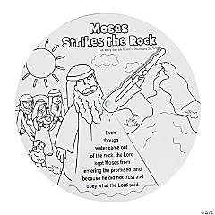 Color Your Own Moses Strikes the Rock Wheels