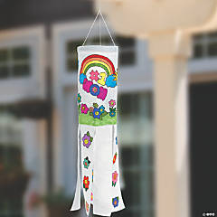 Color Your Own Mother's Day Canvas Windsocks
