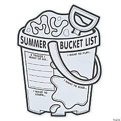 "Color Your Own ""My Summer Bucket List"" Posters"