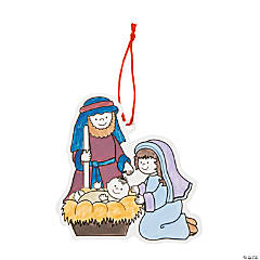 Color Your Own Nativity Scene Ornaments