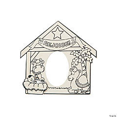 Color Your Own Nativity Scene Photo Frames