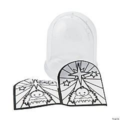 Color Your Own Nativity Snow Globes