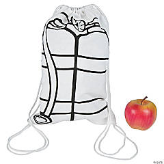 Color Your Own Oxygen Tank Drawstring Backpacks