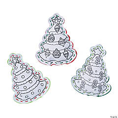 Color Your Own Plush Christmas Tree Lacing Kit