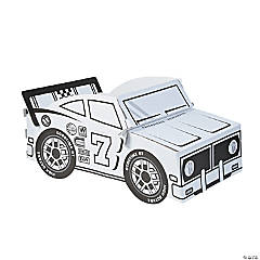 Color Your Own Race Car Box Costume