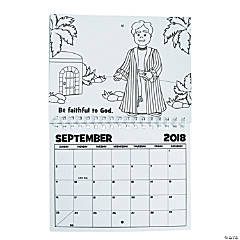 Color Your Own Religious 2018 Calendar