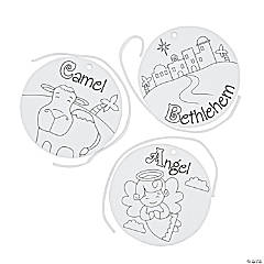 Color Your Own Religious ABC's of Christmas Ornaments