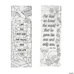 Color Your Own Religious Bookmarks