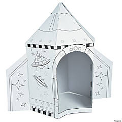 Color Your Own Rocket Ship Playhouse