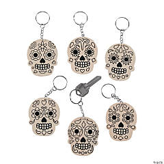 Color Your Own Skull Keychains