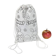Color Your Own Small Easter Drawstring Bags