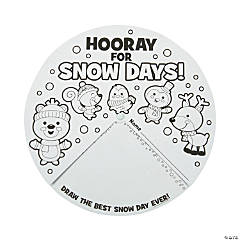 Color Your Own Snow Day Favorites Wheels