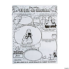 Color Your Own Spanish Story of Christmas Posters