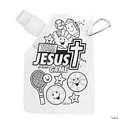 Color Your Own Sports VBS Collapsible Water Bottles