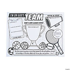 Color Your Own Sports VBS Posters