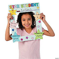 Color Your Own Star of the Week Picture Frame