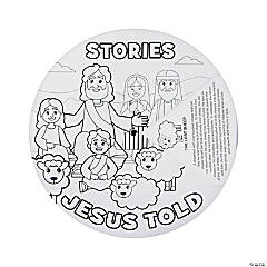 Color Your Own Stories Jesus Told Wheels