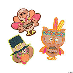 Color Your Own Thanksgiving Character Magnets