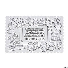 Color Your Own Thanksgiving Prayer Placemats