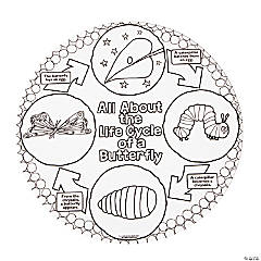 Color Your Own The Very Hungry Caterpillar™ Life Cycle Posters