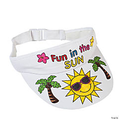 Color Your Own Tropical Visors