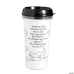 Color Your Own Under the Sea Travel Mugs
