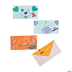 Color Your Own Valentine Animals Envelopes