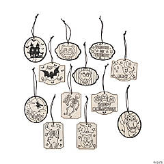 Color Your Own Vintage Halloween Ornaments