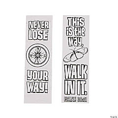 Color Your Own Walk His Way Bookmarks